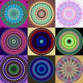 Set of mandala ornament generated textures — Stock Photo