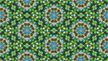 Kaleidoscopic generated seamless loop video — Stock Video
