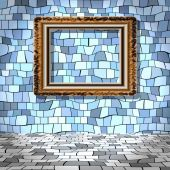 Empty room with picture generated texture — Stock Photo