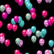 Easter eggs balloons generated seamless loop video with alpha matte — Stock Video #63195155