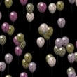 Easter eggs balloons generated seamless loop video with alpha matte — Stock Video #63195661