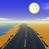 Abstract road landscape generated background — Stock Photo