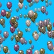 Easter eggs balloons generated seamless loop video — Stock Video #63808879