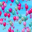 Easter eggs balloons generated seamless loop video — Stock Video #63934643