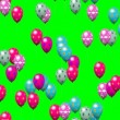 Easter eggs balloons generated seamless loop video green screen — Stock Video #64029331