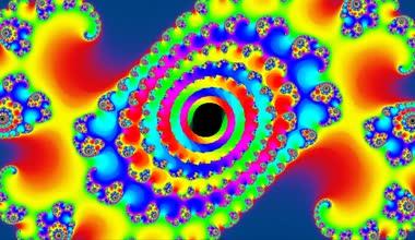 Rainbow fractal video — Stock Video