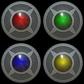 Metal color buttons isolated texture — Stok fotoğraf