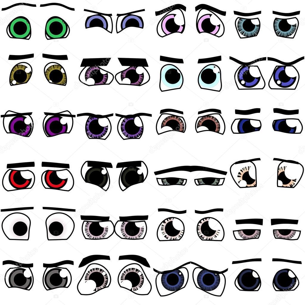 dibujos animados de ojos x 24 fotos de stock pandawild 70939559. Black Bedroom Furniture Sets. Home Design Ideas