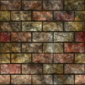 Stone wall seamless generated texture — Stock Photo