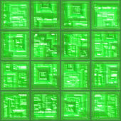 Glass tiles seamless generated texture — Stock Photo