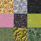 Set of metal bumps seamless generated textures — Fotografia Stock