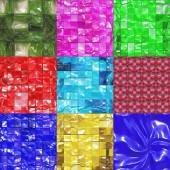 Set of candy tiles textures — Stock Photo