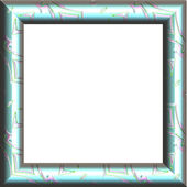 Picture frame generated isolated texture — Stock Photo