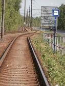 Tram rails — Stock Photo