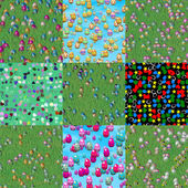 Set of easter eggs generated seamless textures — Stock Photo