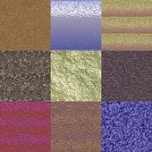 Set of glazed bumps seamless generated textures — Fotografia Stock