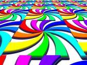Rainbow spectral swirl perspective image — Stock Photo