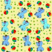 Jammies seamless pattern whith jumbo and ball — Stock Photo