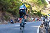 Cordoba, Spagna - 26 agosto: Vasyl Kiryienka (Team Sky) passando — Foto Stock