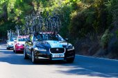 CORDOBA, SPAIN - August 26th: Team Sky assistance car passing th — Stock Photo