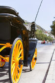 Horse carriage parked in andalusia, spain — Stock Photo
