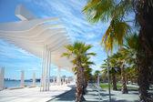 View of the promenade of Malaga — Stock Photo