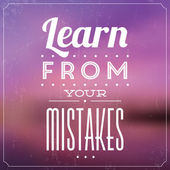 Learn From Your Mistakes — Stock Vector