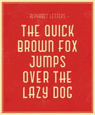 The quick brown fox jumps over the lazy dog — Stock Vector