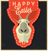 Easter Bunny Greeting Card — Stock Vector