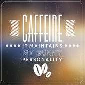 Retro Coffee Label — Stock Vector