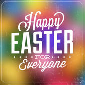 Typographic Easter Poster — Stock Vector