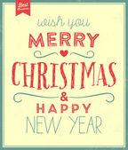 老式圣诞节版式背景 — 图库矢量图片