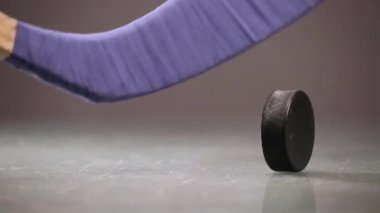 Hockey puck and hockey stick — Stok video