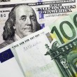 Dollar and euro money background — Stock Photo #66548565