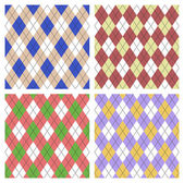 Seamless argyle pattern set — Stockvector