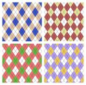 Seamless argyle pattern set  — Stock Vector