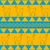 Ethnic seamless lama background pattern — Stock Vector
