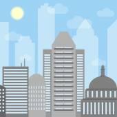 Urban landscape. Day cityscape — Stock Vector