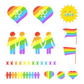 Collection of gay elements. — Stock Vector