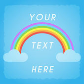 Gay rainbow poster with place for your text — Stock Vector