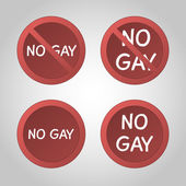 No gay stop sign set. — Stock Vector