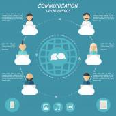Concept of communication infographic elements. — Stock Vector