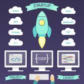 Startup project infographic elements — Stock Vector