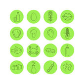 Allergen icons for intolerance products — Stock Vector