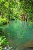 Blue lagoon, Vang vieng, Laos — Stock Photo