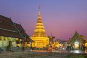 Temple Phra That Hariphunchai in Lamphum, Province Chang Mai, Th — Stock Photo