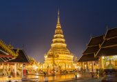 Temple Phra That Hariphunchai in Lamphum, Province Chang Mai, Th — Stock fotografie