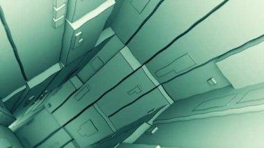 Camera flight through futuristic tunnel — Stock Video