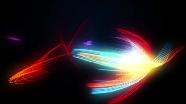 Multicoloured neon lines background — Video Stock