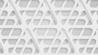 Moving perforated white triangles, loop — Stock Video